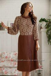 Теплые удобные вязаные платья