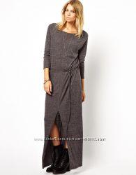 Теплые платья сарафани макси вязаные