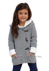 Вязаное пальто и куртки   меховая подкладка для девочек