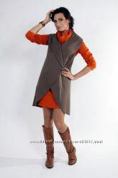 Стильные жилеты, пальто,  вязаные