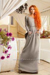 Платья макси теплые