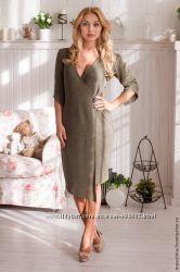 Шикарные теплые вязаные платья
