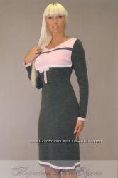 Вязаные платья для модниц тепло и удобно полушерсть