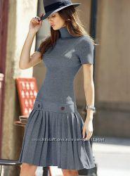 Удобная красивая теплая вязаная  одежда . Платья туники юбки