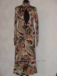 Яркое макси-платье