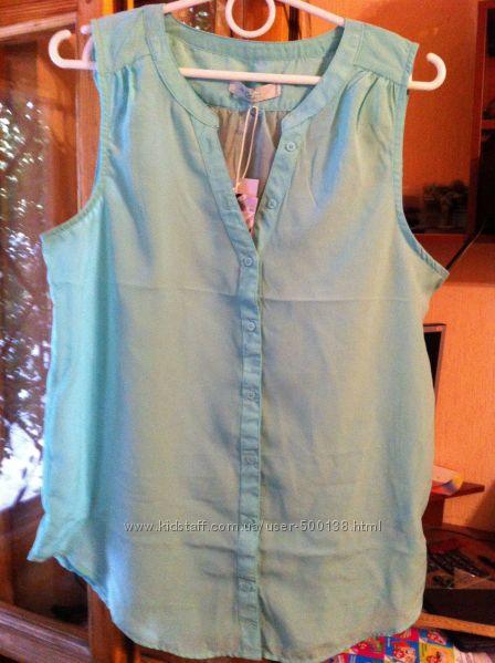 Модная нежная блузка мятного цвета  Colins новая