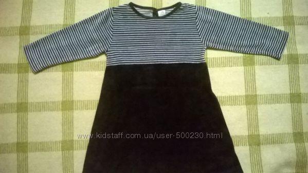Платье велюровое 1, 5 -3 года Adams, состояние нового