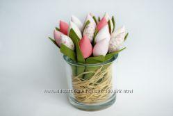 шью на заказ тильда тюльпаны ручной работы