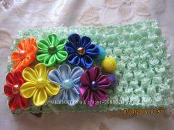 украшения для волос в радужной цветовой гамме
