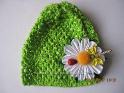 нарядные шапочки-аксессуары для вашей малышки