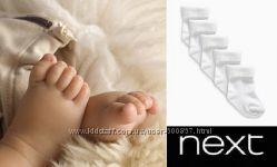 Белые носочки NEXT для новорожденных
