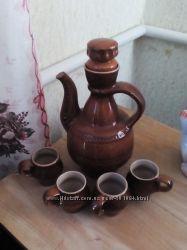 Сервиз молочник глиняной