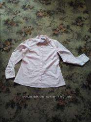 Женская рубашка нежно розового цвета