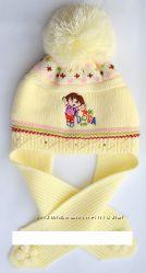Шапка-шарф, осень-зима, в наличии