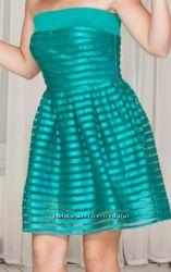Изумрудное коктейльное платье H&M размер S