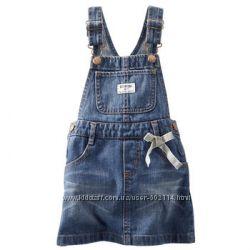 Джинсовая юбочка на лямках для маленькой модницы
