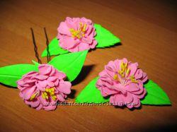 ободки, шпильки резинки с цветами