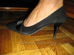 Туфли черные замшевые р. 40-41