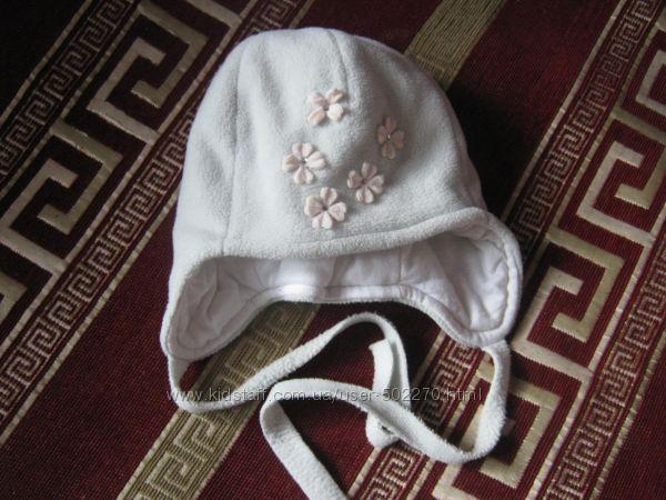 Зимняя теплая флисовая шапочка на девочку