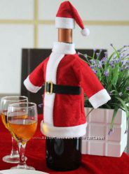 Новогодний чехол на бутылку