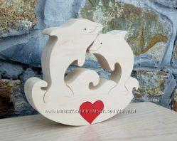 Валентинки ручной работы из дерева