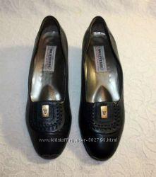 Кожаные итальянские туфли Valleverde 37. 5р. Стелька 24-24. 5см