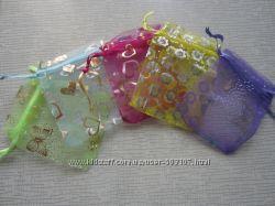 Подарочные мешочки, пакетики для украшений, лот 5 шт, в наличии