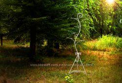Кованное дерево, подставка для цветов