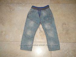Фирменные классные джинсы на подкладке Next 98р, 2-3 года