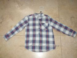 Новая фирменная рубашка Zara 104р. на 3-4 года, 100 хлопок.