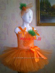 Костюм Морковки,  к осенним утренникам и другие фатиновые юбки-пачки.
