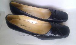 Кожаные туфли Бразилия черные черного классика каблуке