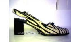 Замшевые босоножки MORGAN Франция зебра зебровый