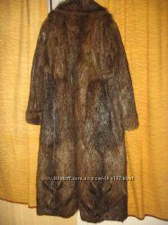 Шуба нутрия  шуба нутриевая нутриевая шуба  коричневого 56 58 размер