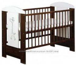 Детская кроватка KLUPS без ящика орех
