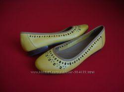 Балетки Clarks Yellow натур кожа 36-37 размер