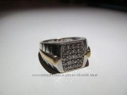 кольцо мужское с брилиантами