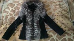 Куртка замшевая с чернобуркой