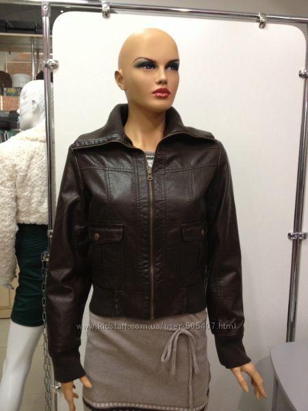Куртка женская L, XL коричневая с утепленной подкладкой PIMKIE