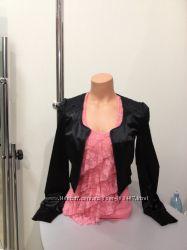 Пиджак черный атласный новый с длинным рукавом. размер  S,    Tally-Weijl