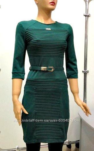 платье зеленое с длинным рукавом, Турция  S, М
