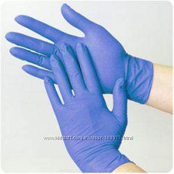 Перчатки нитриловые, без талька, S, M в наличии
