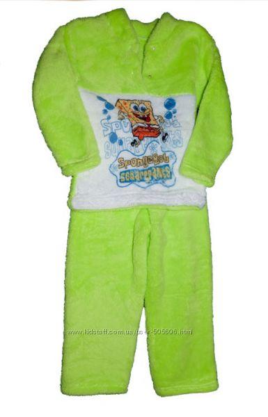 Очень теплые махровые пижамы для деток, новые