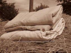Льняные одеяла c хлопковой тканью