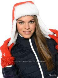 Классная яркая шапка ушанка Climaproof adidas  оригинал