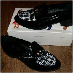 Лаковые туфли классика с войлоком 2 цвета