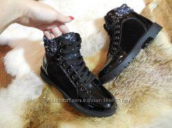 Зимние ботинки на меху комбинация в наличии