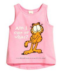 Майки, шорты, футболки Н&М для девочек