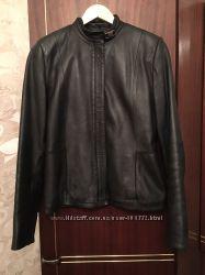 Кожаная куртка, на тонком синтепоне