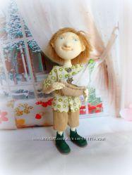 Текстильная кукла мальчик с корабликом - куда уходит детство